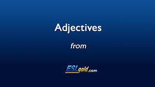 ESLgold.com Adjectives video