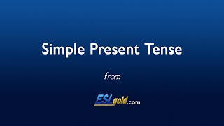 ESLgold.com Simple Present Tense video