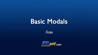 ESLgold.com Basic Modals video